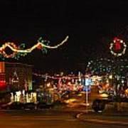 Main St. Christmas Lights Poster