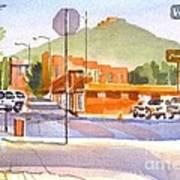 Main Street In Morning Shadows Poster
