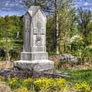 Maine At Gettysburg - 5th Maine Volunteer Infantry Regiment Just North Of Little Round Top Poster
