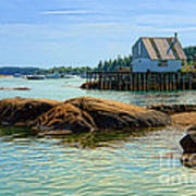 Maine Fishing Port Poster