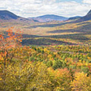 Maine Mountains In Fall Mount Blue State Park  Poster
