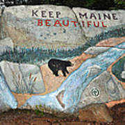 Maine Rock Painting Poster