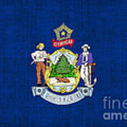 Maine State Flag Poster