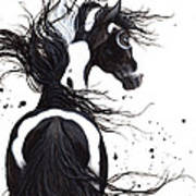 Majestic Pinto Horse Poster