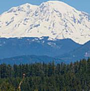 Majestic Rainier Poster
