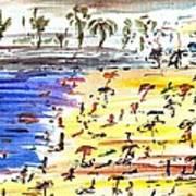 Majorca Playa Poster by Anthony Fox