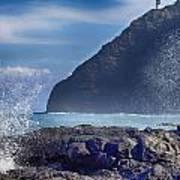 Makapuu Point Lighthouse- Oahu Hawaii V2 Poster