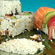 Making Sushi Little People On Food Poster