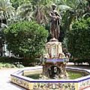 Malaga Art Deco Sculpture Poster