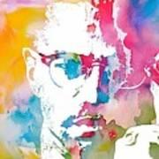 Malcolm X Watercolor Poster