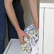 Male Doing Laundry Poster
