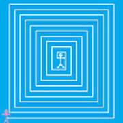Male Maze Icon Poster