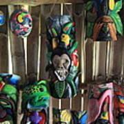 Maleku Balsa Tribal Masks Poster