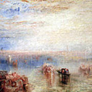 Turner's Approach To Venice Poster