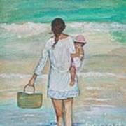 Mama's Beach Day Poster
