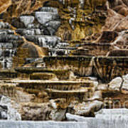 Mammoth Hot Springs - Yellowstone Poster