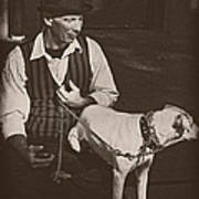 Man And White Dog In New Orleans Poster