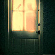 Man At Door With Cleaver Poster