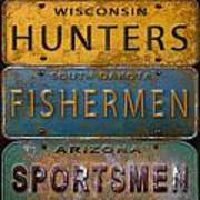 Man Cave-license Plate Art Poster