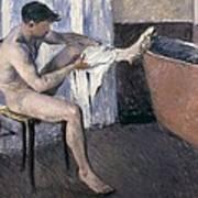 Man Drying His Leg  Poster