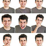 Man Face Expressions Poster