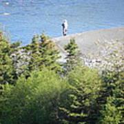 Man Fishing  Poster