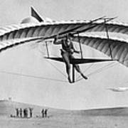 Man Gliding In 1883 Poster