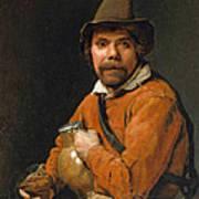 Man Holding A Jug Poster