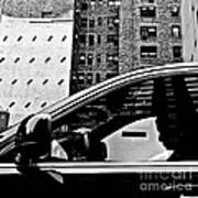 Man In Car - Scenes From A Big City Poster