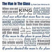 The Man In The Glass Poem Poster