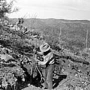 Man Mining Ore Poster