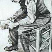 Man Reading The Bible Poster by Vincent van Gogh