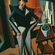 Man Standing At A Window Poster