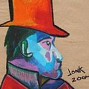 Man With Top Hat Poster