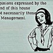 Management Opinions Poster