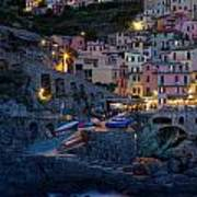 Manarola By Night Poster