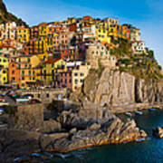 Manarola Poster by Inge Johnsson