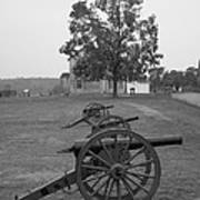 Manassas Battlefield Cannon And House Poster