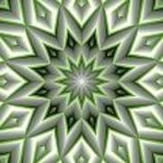 Mandala 107 Green Poster