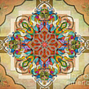 Mandala Birds Sp Poster by Bedros Awak