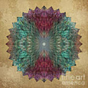 Mandala Crystal Poster by Filippo B