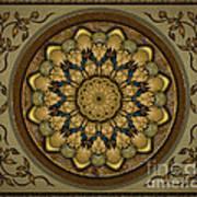 Mandala Earth Shell Sp Poster by Bedros Awak