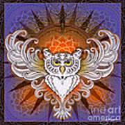 Mandala Owl Poster