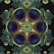 Mandala Peacock  Poster