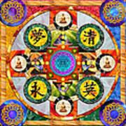 Mandala Wheel Poster