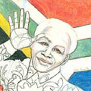 Mandela's Blooming Shirt Poster