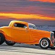 Mango Madness 1933 Ford Hiboy Coupe Poster