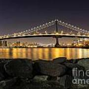 Manhattan Bridge Evening Reflections Poster