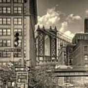Manhattan Bridge Peeking Through Poster
