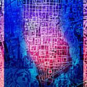 Manhattan Map Abstract 5 Poster